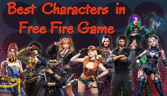 Top 10 best characters free fire